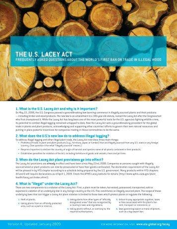 EIA Lacey FAQ - Forest Legality Alliance