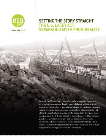 EIA Lacey Mythbusters - English.pdf - Forest Legality Alliance