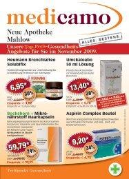 Angebote für Sie im November 2009. Top-Preis - Neue Apotheke ...