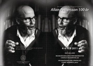 Allan Pettersson 100 år - Svensk Musik