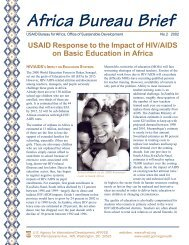 USAID Response to the Impact of HIV/AIDS on Basic Education in ...