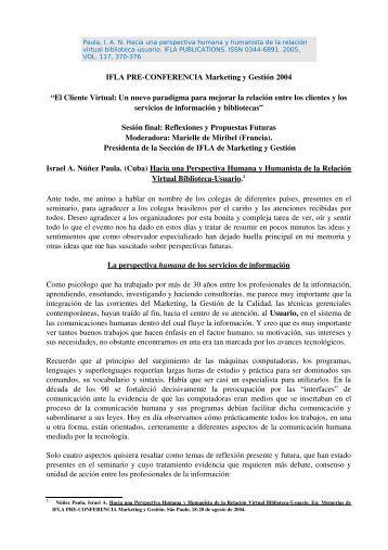 Núñez Paula, I. A. N. Hacia una perspectiva humana y ... - ERA