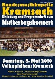 Programmheft - Bundesmusikkapelle Kramsach