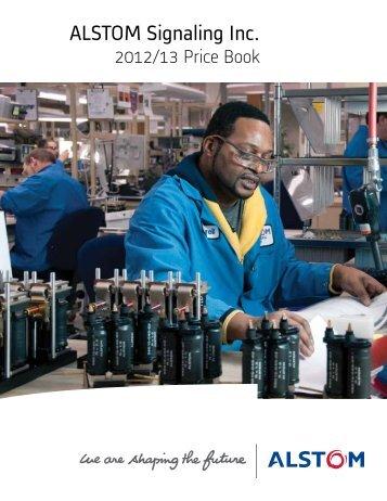 Pricebook 2012.2013 - ALSTOM Signaling Inc.