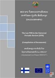 The Lao PDR in the Universal Periodic Review(UPR) - International ...