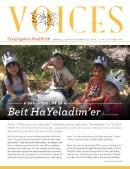 Voices – Summer 2013 - Congregation B'nai B'rith