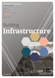 Building Infrastructure Progress Report - Ministry of Business ...