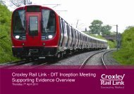 Supporting Evidence Overview - Croxley Rail Link