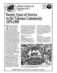 Fact Sheet - Historic Takoma Inc.