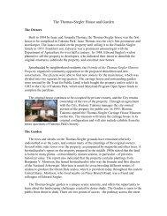 The Thomas-Siegler House and Garden - Historic Takoma Inc.