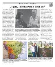 Jequié, Takoma Park's sister city - Historic Takoma Inc.