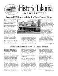 Apr. 2003 - Historic Takoma Inc.