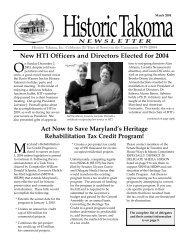 Mar. 2004 - Historic Takoma Inc.
