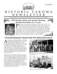 Dec. 2008 - Historic Takoma Inc.