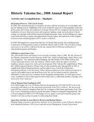 Historic Takoma Inc., 2008 Annual Report