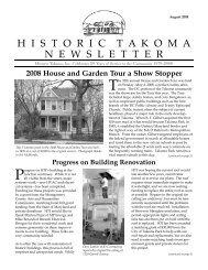 Aug. 2008 - Historic Takoma Inc.