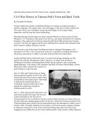 Civil War History in Takoma Park's Front and Back Yards - Historic ...