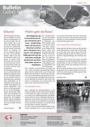 1 2013 Aussen - Gebet für die Schweiz