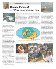Reunite Pangaea! —Life in an orogenous zone - Historic Takoma Inc.