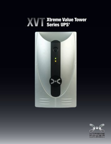XVT Series UPS Product Brochure - Rackmount Solutions