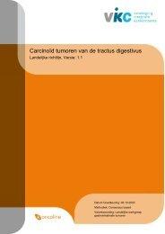 Richtlijn: Carcinoïd tumoren van de tractus digestivus (1.1) - NVGIC