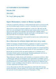 Kjære Rotarianere, venner av Rotary og andre. - Distrikt 2305