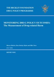 The measurement of drug related harm - The Beckley Foundation