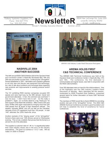 NewsletteR - Railway Systems Suppliers, Inc.