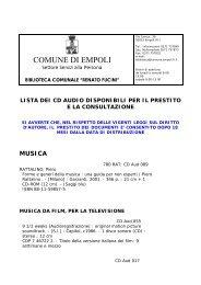 CD audio - Comune di Empoli