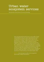 Urban water ecosystem services