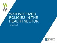WAITING TIMES POLICIES IN THE HEALTH SECTOR