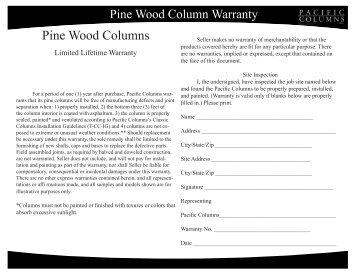 Endura stone column installation information pacific for Pacific columns endura stone