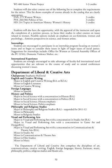 11-12 Catalog Layout Draft - St. Andrews University
