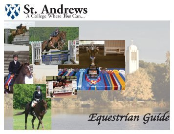SAPC Equestrian Guide - St. Andrews University
