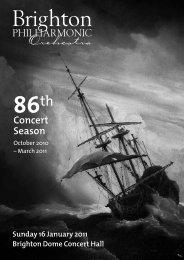 86th Concert Season - Brighton Philharmonic Orchestra