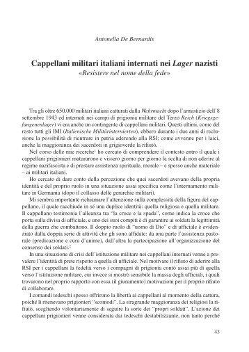 Cappellani militari italiani internati nei Lager nazisti