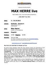 MAX HERRE live - Krasscore