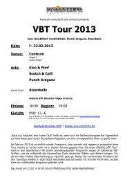 VBT Tour 2013 - Krasscore