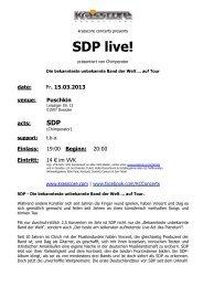 SDP live! - Krasscore