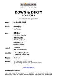 DOWN & DIRTY_14.04.2012_presse - Krasscore