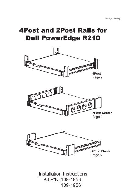 Dell R210 Fixed Rails - Rackmount Solutions