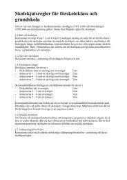 Reglerna för skolskjuts - Borås