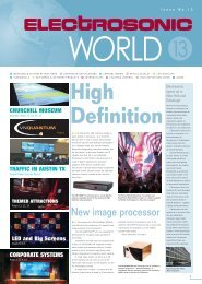 ES World newsletter 13 - Electrosonic