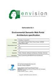 Environmental Semantic Web Portal Architecture specification