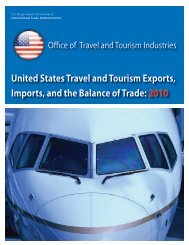 United States Travel and Tourism Exports, Imports, and the Balance ...