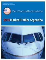 2010Market Profile: Argentina - Office of Travel and Tourism Industries