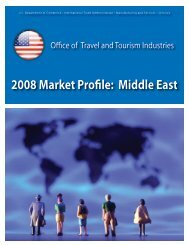 2008 Market Profile: Middle East - Office of Travel and Tourism ...
