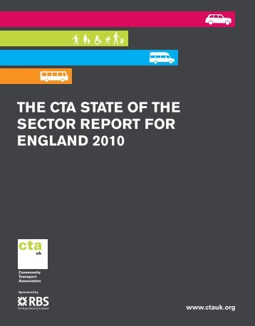 the cta state of the sector report for england 2010 - Community ...
