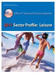2011Sector Profile: Leisure - Office of Travel and Tourism Industries