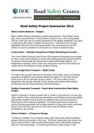Road Safety Project Summaries 2012 - Community Transport ...